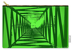 Carry-all Pouch featuring the photograph Green Perspective by Clare Bevan