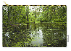 Green Blossoms On Pond Carry-all Pouch