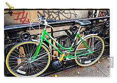 Green Schwinn Bike  Nyc Carry-all Pouch by Joan Reese