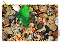 Green Sea Glass Carry-all Pouch