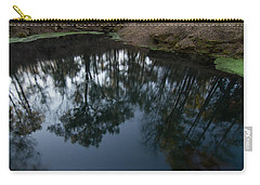 Carry-all Pouch featuring the photograph Green Sink Reflection by Paul Rebmann