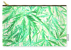 Carry-all Pouch featuring the photograph Green Splender by Jamie Lynn