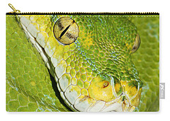Carry-all Pouch featuring the photograph Green Tree Python #2 by Judy Whitton