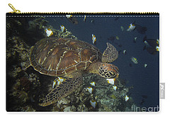 Carry-all Pouch featuring the photograph Hawksbill Turtle by Sergey Lukashin