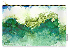 Green Wave Carry-all Pouch by Joan Hartenstein