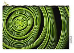Carry-all Pouch featuring the digital art Green Wellness by Gabiw Art