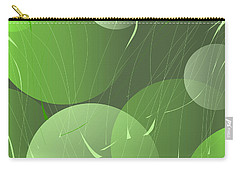 Carry-all Pouch featuring the digital art Green Whimsy by Mary Bedy