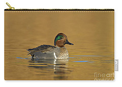 Green Wing Teal Carry-all Pouch by Bryan Keil