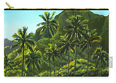 Greens Of Kahana Carry-all Pouch