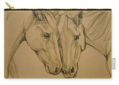 Carry-all Pouch featuring the drawing Greetings Friend by Jani Freimann