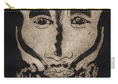 Greetings From New Guinea - Mask - Tribesmen - Tribesman - Tribal - Jefe - Chef De Tribu Carry-all Pouch
