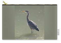 Carry-all Pouch featuring the photograph Grey Bird by Oksana Semenchenko