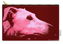 Carry-all Pouch featuring the photograph Greyhound Profile by Clare Bevan