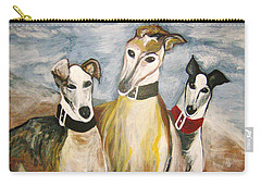 Greyhounds Carry-all Pouch by Leslie Manley