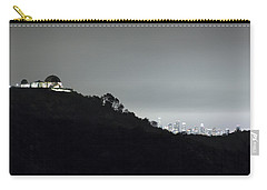 Carry-all Pouch featuring the photograph Griffith Park Observatory And Los Angeles Skyline At Night by Belinda Greb
