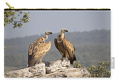 Griffon Vulture Pair Extremadura Spain Carry-all Pouch by Gerard de Hoog