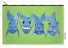 Grinning Fish Carry-all Pouch