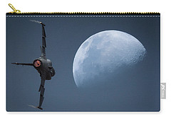Carry-all Pouch featuring the photograph Gripen Moon by Paul Job