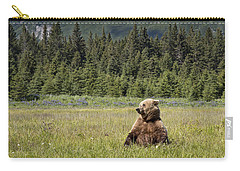 Grizzly Bear In Meadow Lake Clark Np Carry-all Pouch