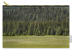 Grizzly Bear Mother And Cubs In Meadow Carry-all Pouch