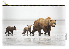 Grizzly Bear Mother And Cubs Lake Clark Carry-all Pouch