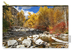 Carry-all Pouch featuring the photograph Grizzly Creek Canyon by Jeremy Rhoades