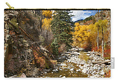 Carry-all Pouch featuring the photograph Grizzly Creek Cottonwoods Vertical by Jeremy Rhoades