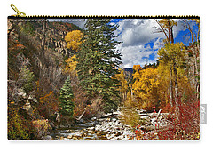 Carry-all Pouch featuring the photograph Grizzly Creek Vertical by Jeremy Rhoades