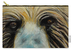 Grizzly Eyes Carry-all Pouch by Jeanne Fischer