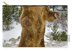 Carry-all Pouch featuring the photograph Grizzly Standing by Jerry Fornarotto