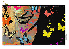 Groovy Butterfly Gal Carry-all Pouch