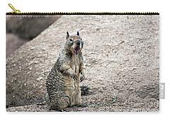 Ground Squirrel Raising A Ruckus Carry-all Pouch by Susan Wiedmann