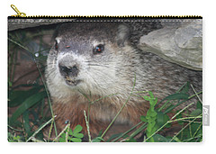 Groundhog Hiding In His Cave Carry-all Pouch