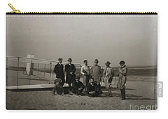 The Wright Brothers Group Portrait In Front Of Glider At Kill Devil Hill Carry-all Pouch by R Muirhead Art