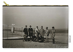 The Wright Brothers Group Portrait In Front Of Glider At Kill Devil Hill Carry-all Pouch