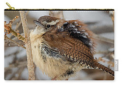 Grumpy Bird Square Carry-all Pouch by Bill Wakeley