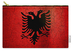 Grunge Albania Flag Carry-all Pouch