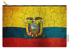 Grunge Ecuador Flag Carry-all Pouch