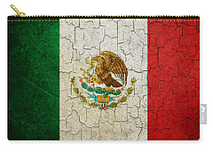 Grunge Mexico Flag Carry-all Pouch