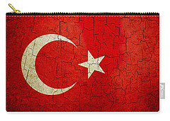 Grunge Turkey Flag Carry-all Pouch