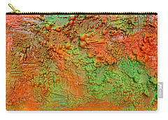 Orange Abstract New Media  Carry-all Pouch