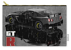 Gtr In The Rain Carry-all Pouch by Peter J Sucy