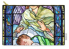 Guardian Angel With Sleeping Boy Carry-all Pouch
