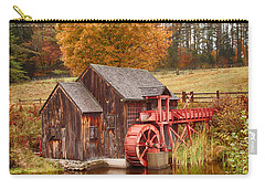 Carry-all Pouch featuring the photograph Guildhall Grist Mill by Jeff Folger
