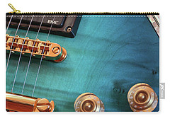 Carry-all Pouch featuring the photograph Guitar Blues by Joy Watson