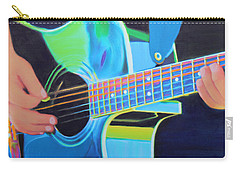 Carry-all Pouch featuring the painting Guitar Man by Deborah Boyd