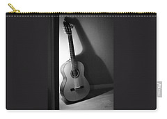 Guitar Still Life In Black And White Carry-all Pouch