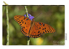 Carry-all Pouch featuring the photograph Gulf Fritillary Butterfly by Meg Rousher
