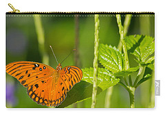 Carry-all Pouch featuring the photograph Gulf Fritillary by Jane Luxton