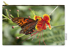 Carry-all Pouch featuring the photograph Gulf Fritillary Photo by Meg Rousher